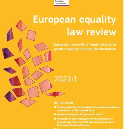 European equality law review – numero 1/2021